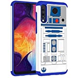 Samsung Galaxy A50 Case,Galaxy A50 Cover - R2D2 Droid Robot Pattern Shock-Absorption Hard PC and Inner Silicone Hybrid Dual Layer Armor Defender Protective Case Cover for Samsung Galaxy A50