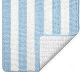 Gorilla Grip Original Luxury Chenille Bathroom Rug Mat, 30x20, Extra Soft and Absorbent Shaggy Rugs, Machine Wash, Quick Dry Bathmat, Plush Carpet for Tub, Shower Bath Room Floor Mats, White Sky Blue