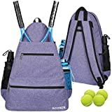 ACOSEN Tennis Bag Tennis Backpack - Large Tennis Bags for Women and Men to Hold Tennis Racket,Pickleball Paddles, Badminton Racquet, Squash Racquet,Balls and Other Accessories (Purple)