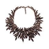 XingBeiBei Retro Necklace Geometric Shape Willow Leaf Necklace Ladies Metal Necklace with Jewelry