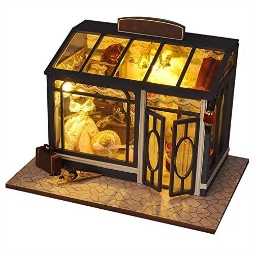 Gpzj Maison de poupée Portable Monde rétro bricolage Cottage Cottage Modèle Simulation Mini-Maison de poupée Non toxique Sans Risque pour exercer Les capacités de Votre Enfant, La Victoire