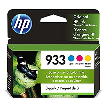 HP 933 | 3 Ink Cartridges | Cyan Magenta Yellow | Works with HP OfficeJet 6100 6600 6700 7110 7510 7600 Series | CN058AN CN059AN,CN060AN