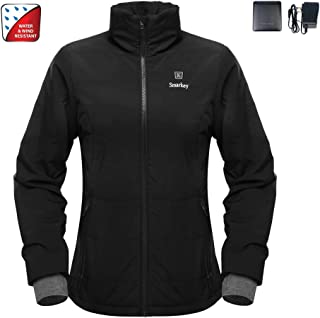 Cordless 7.4v Women's Heated Jacket Winter Outdoor Coat With Battery and Charger (XL, 1pcs 5200mAh Battery)