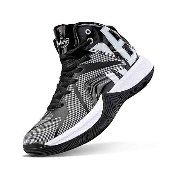 ASHION Kids Basketball Culture Shoes Boys Air-Cushion Comfortable Girls Basketball...
