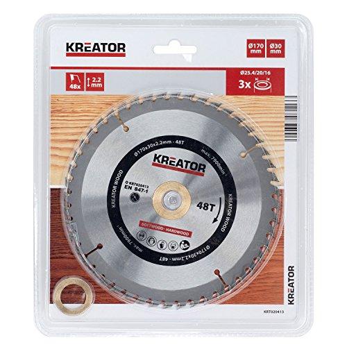 KREATOR KRT020413 - Disco de sierra madera 170mm48d