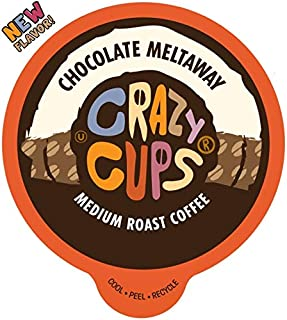 Crazy Cups Flavored Coffee for Keurig K-Cup Machines, Chocolate Meltaway, Hot or Iced Drinks, 22 Single Serve, Recyclable ...