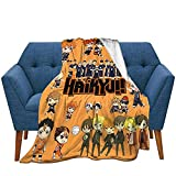 Xinpim Anime Blanket Warm Cozy and Lightweight Flannel Throw Blankets All Season for Outdoor Travel Camping 50'X40'