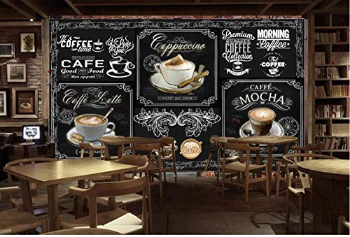 Wandbild - Blackboard Kaffee Catering Hintergrund Wand * 200cmx140cm (78,7x55.1inch) Foto Wallpaper - Große Kunst Wanddekoration Wallpaper Photoposter Wanddekoration