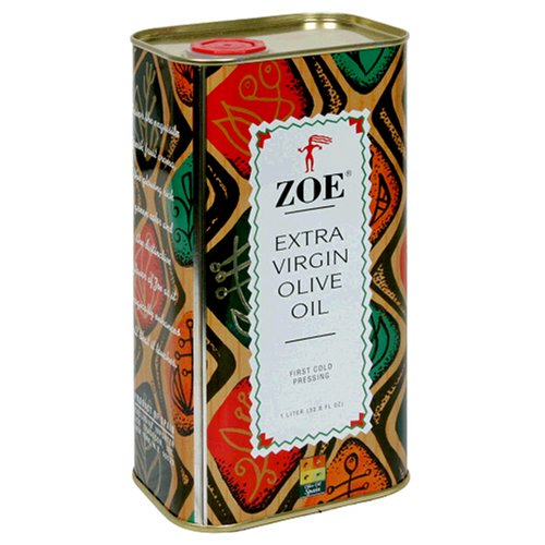 ZOE Extra Virgin Olive Oil, 1-Liter Tins (Pack of 2)