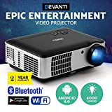 Devanti 4000 Lumens Portable Mini Video Projector with 200'' Projection Size for 1080P