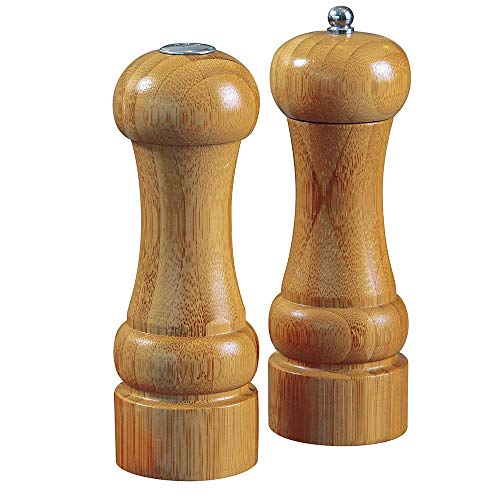 Conjunto Moedor Pimenta E Saleiro Bamboo Mor