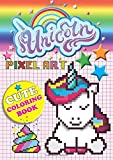 Unicorn Pixel Art Cute Coloring Book: Magical Unicorn Color-By-Numbers For Kids Ages 5-10
