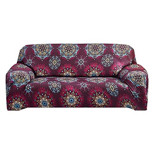 MKQB Funda de sofá elástica elástica Estilo Mandala, Funda de sofá de Esquina para Sala de Estar, Funda de Muebles Antideslizante, Envuelta herméticamente, n. ° 11 L (190-230cm)