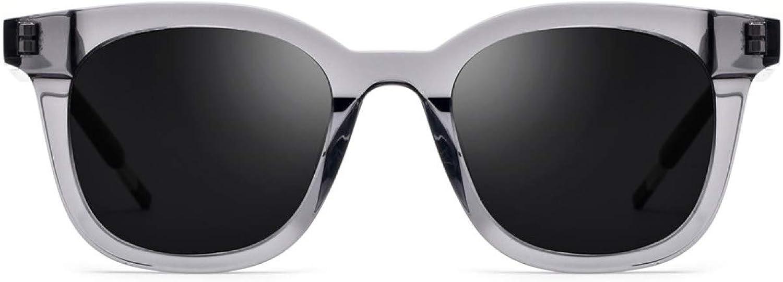 Classic Fashion Square Plastic Glasses Frames Polarized Sunglasses Unisex Driving Glasses,GreyM