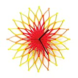 Fireworks I (花火) - 59cm手作りの木製の壁時計 (XL)