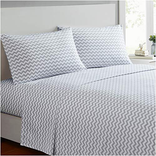 Mellanni Bed Sheet Set - Brushed Microfiber 1800 Bedding - Wrinkle, Fade, Stain Resistant - 4 Piece