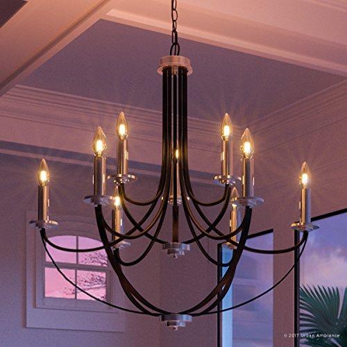Colonial Silver Five Light Chandelier - 4
