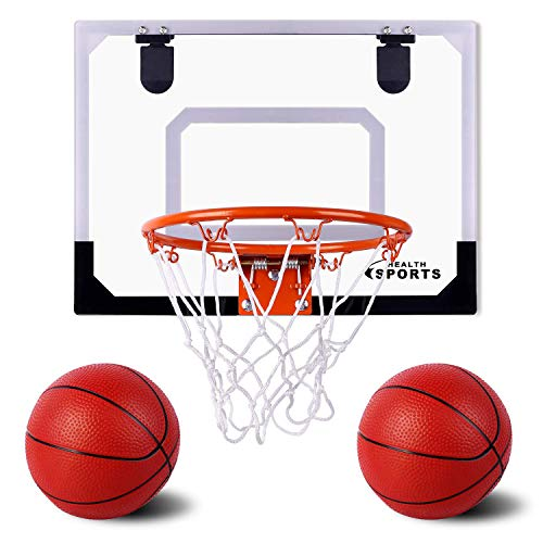 AOKESI Indoor Mini Basketball Hoop and Balls 17.8' x 14'' - Basketball Hoop for Door Set -...