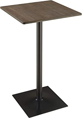 Coaster CO-100730 Bar Table, Dark Elm/Matte Black
