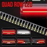 """OPL5 60"""" Truck LED Tailgate Light Bar Quad Row 624 Pcs LED Turn"""