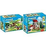 Playmobil 6928 - Pferdetransporter &  6929 - Pferde-waschplatz