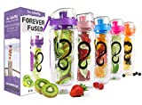 Live Infinitely 32 oz. Infuser Water Bottles - Featuring a Full Length...