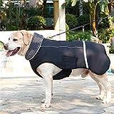 Zantec Cappotti e Giubbotti per Cani,Cappotto Cane,Giacca Invernale Impermeabile per Cani da Compagnia Riflettente Addensare Vestiti Caldi per Cani,Black XXXL