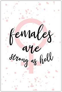 Females Are Strong As Hell Motivational Wall Art