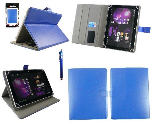 Emartbuy® LG G Pad 2 10.1 Tablet 10.1 Zoll Universalbereich Blau Multi Winkel Folio Exekutive Case Cover Wallet Hülle Schutzhülle mit Kartensteckplätze + Blau Eingabestift