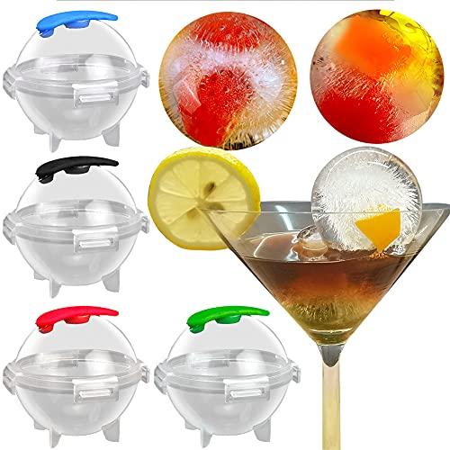 Molde de bola de hielo para whisky Bandejas de hielo esféricas de silicona Cubito de hielo redondo Máquina de hielo Bandeja de hielo de bola redonda para cóctel, jugo, gelatina, color aleatori