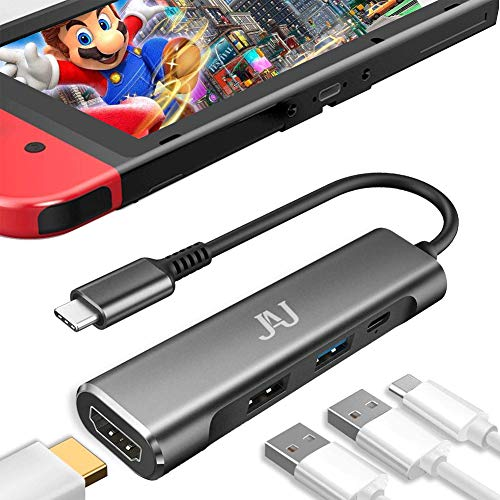 Type C to HDMI Digital AV Multiport Adapter,Portable Nintendo Switch Dock,PD Charger USB c to Hdmi hub for Nintendo Switch,MacBook Pro,Samsung Dex Mode S21/S20/10/9 Note20 Travel TV Docking Station