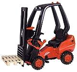 BIG - Linde Forklift - Kindergabelstapler, Spielfahrzeug mit Präzisionskettenantrieb, verstellbarer Sitz, bis 50 kg, Linde Lizenz, für Kinder ab 3 Jahren