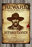Gatsbe Exchange Wanted Poster Buford Tannen Dead or Alive,