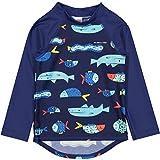 Polarn O. Pyret Fish Soup UV ECO Rash Guard Swim TOP (Baby) - 1-2 Years/Dark Sapphire