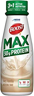BOOST Max Nutritional Drink, 30g Protein, Very Vanilla, 11 Ounce Bottle (Pack of 12)