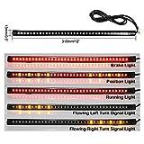 Lemonbest LED Motorcycle Light Strip Universal flexible 12
