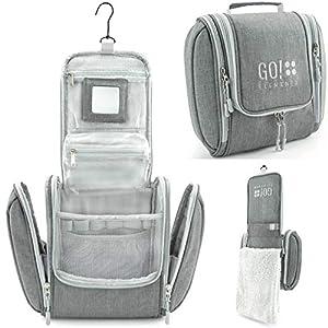 GO!elements® Bolsa de Aseo para Colgar Hombres y Mujeres   Neceser cosmético Hombre Grande Mujer para Maletas y Equipaje…