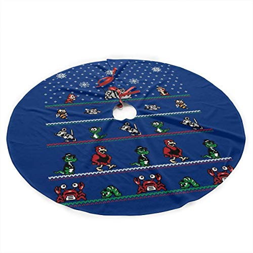 WILHJGH Chip N Dale Christmas Rangers Plush Fabric Christmas Tree Skirt 36 Inch
