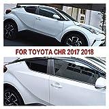 QUXING Derivabrisas para Toyota para CHR 2017 2018 ABS Protector De Ventanas Toldos Deflector De Sol De Lluvia Cubiertas De Ventilación HXJH Derivabrisas Deflectores