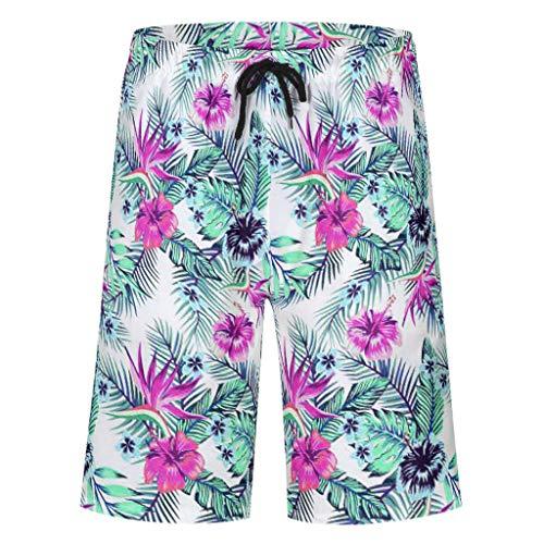 Bannihorse mannen zwembroek vrije tijd short zomer strandmode sneldrogend zwemshort zwempak zwemshorts met verstelbare trekkoord zakken zonder mesh voering
