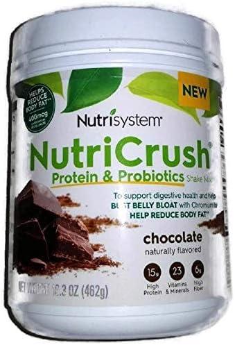 NUTRISYSTEM NutriCrush SHAKE Protein Probiotics CHOCOLATE SHAKE MIX 16 3 OZ 14 Servings Support product image