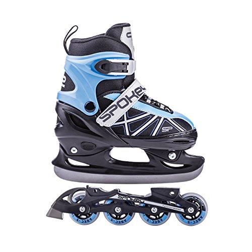 SPOKEY Zool Abec7 Carbon Inline Figur Ice-Skates Einheitsgröße schwarz/blau