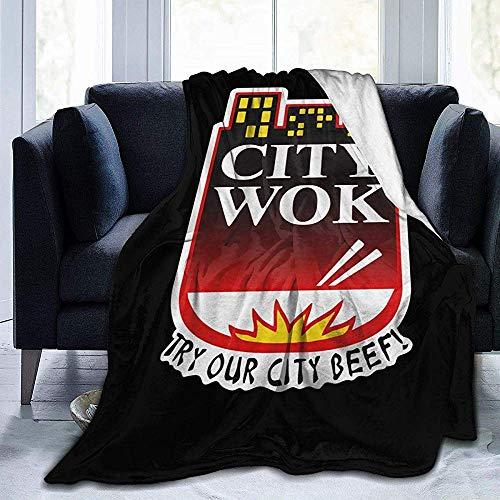 Juli City Wok Digitale Gedrukte Ultra-Zacht Micro Fleece Deken Zacht Warm