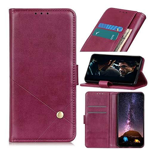 Funda para Nokia 1.4, magnética de piel sintética de primera calidad con función atril [bloqueo RFID] ranuras para tarjetas, funda protectora tipo cartera con tapa para Nokia 1.4 color rojo