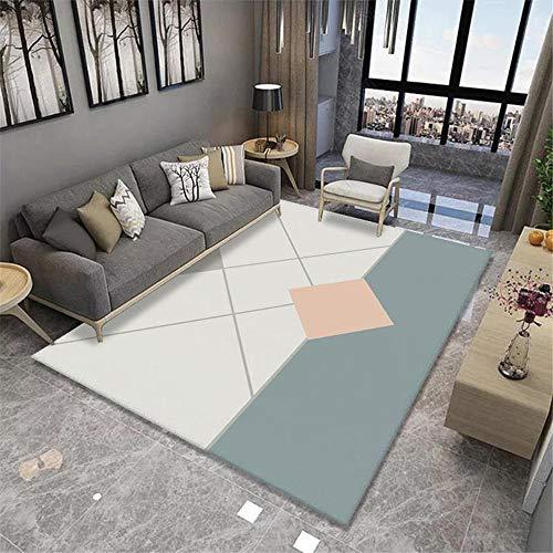 Alfombras decoración Salon Sala de Estar Gris Crema geométrica Antideslizante y Que no se decolora alfombras baño alfombras para dormitorios 60*160cm