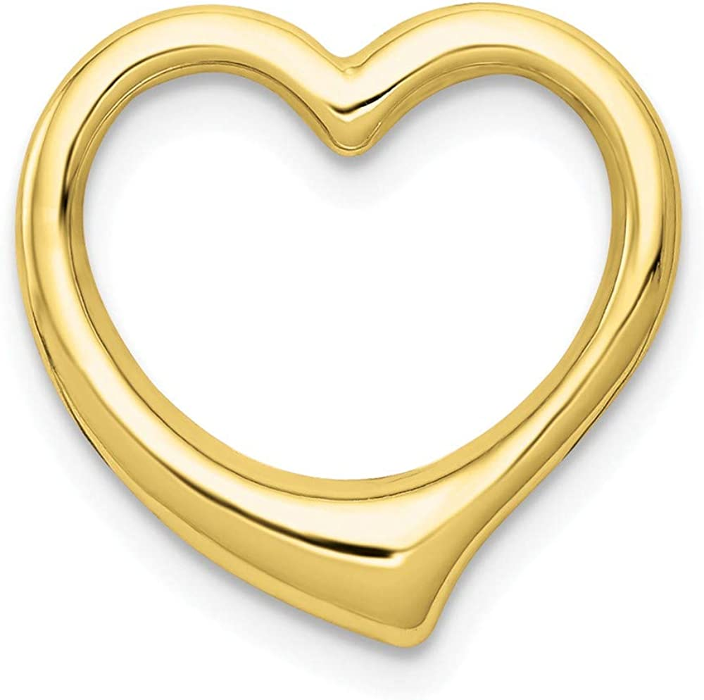 10K Yellow Gold Charm Selling rankings Pendant 3-D Solid Ranking TOP12 Floating Heart