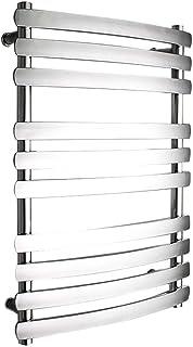 HDLWIS Toallero eléctrico, Calentador de Toallas de baño de Cromo Recto Piso de calefacción de radiador de Calentamiento Central 304
