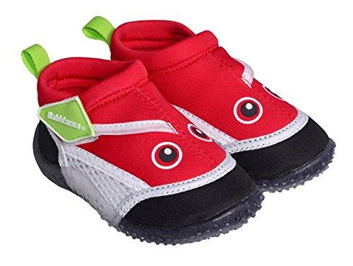 Swimpy® Zapatillas unisex para niños, de neopreno y malla, suela de TPR y protección UV 100 %.