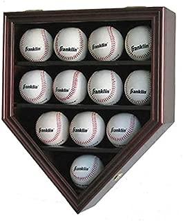 12 Baseball Display Case Wall Cabinet Shadow Box, UV Protection Door, B12(UV)