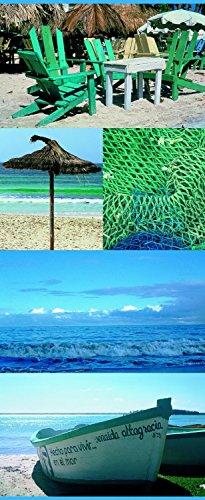 Haga-Wohnideen.de TEXTIBANNER wanddecoratie textiel afbeelding digitale banner fotoprint zomer poster Kreta 75cm x 180cm